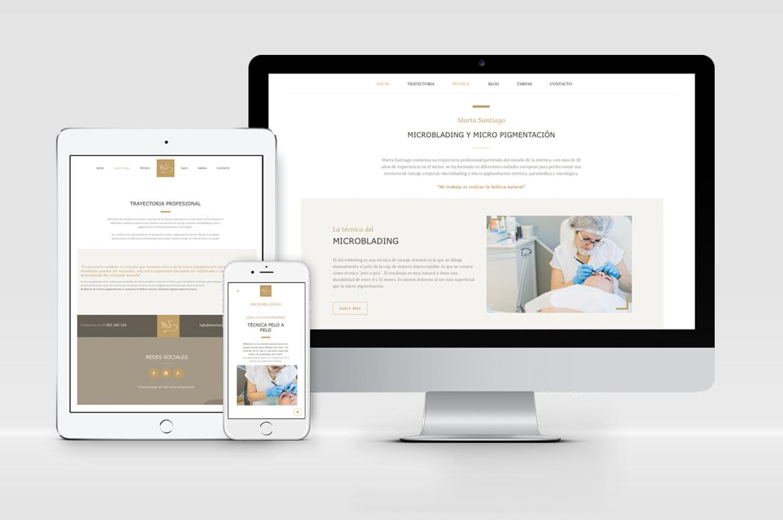 diseño pagina web micropigmentacion